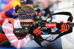 March 16, 2019 - –Stersund, Sweden - 190316 Clare Egan of USA competes in the Women's 4x6 km Relay during the IBU World Championships Biathlon on March 16, 2019 in Östersund..Photo: Petter Arvidson / BILDBYRÃ…N / kod PA / 92268 (Credit Image: © Petter Arvidson/Bildbyran via ZUMA Press)