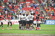 Fiji team group (FIJ), APRIL 17, 2016 - Rugby : HSBC Sevens World Series, Singapore Sevens match Kenya and Fiji (Cup Finals) at National Stadium in Singapore. (Photo by Haruhiko Otsuka/AFLO)