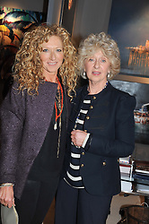 Left to right, KELLY HOPPEN and her mother STEPHANIE HOPPEN at a preview evening of the annual London LAPADA (The Association of Art & Antiques Dealers) antiques Fair held in Berkeley Square, London on 18th September 2012.