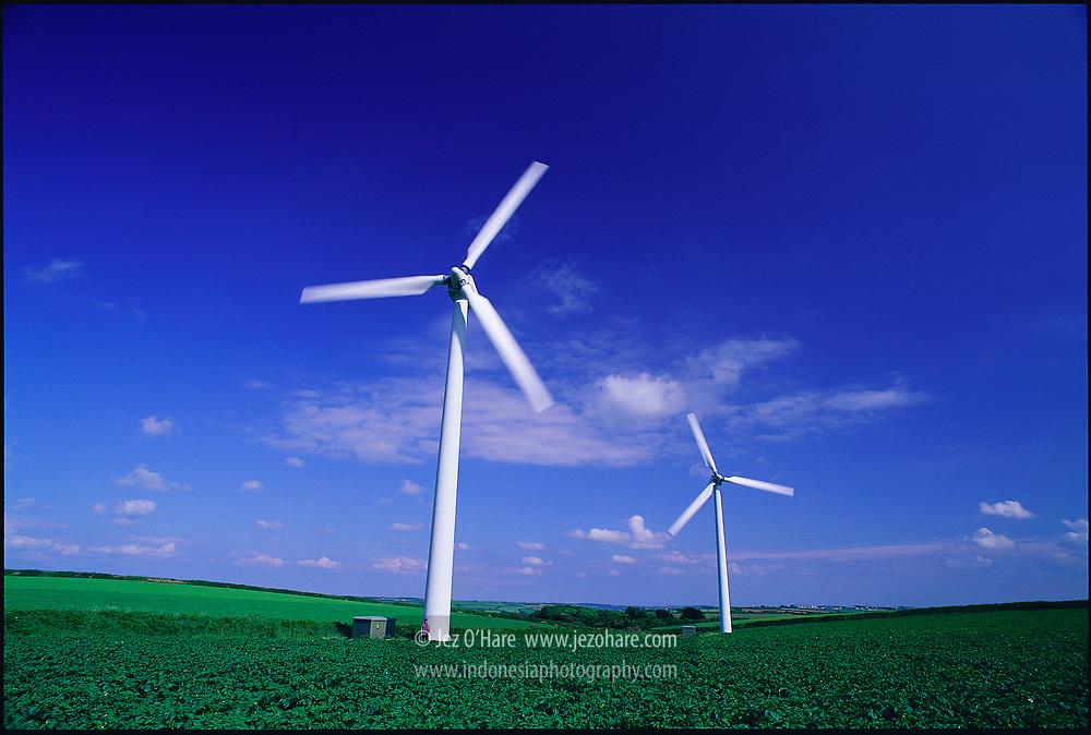 Wind turbines, England, United Kingdom.