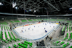 Arena during first practice session of Slovenian National Ice Hockey team in Arena Stozice before 2012 IIHF World Championship DIV I Group A in Slovenia, on April 13, 2012, in Arena Stozice, Ljubljana, Slovenia. (Photo by Vid Ponikvar / Sportida.com)