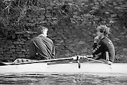 London. England, Oxford University BC, Pre Boat Race Fixture, Oxford University vs Old Blue's eight. left Matt PINSENT, Right Jonny SEARLE. River Thames, Putney.<br /> <br /> [Mandatory Credit;Peter SPURRIER/Intersport Images] 1990's Varsity Pre race Fixture. Oxford University BC vs Old Blues Eight.