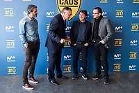 "Rafael Alkorta, Tv Hosts Michael Robinson, Raul Ruiz and Pedja Mijatovic during the presentation of the new tv program #0 of Movistar+ ""Caos FC"" at Ciudad del Futbol of Las Rozas in Madrid. November 21, Spain. 2016. (ALTERPHOTOS/BorjaB.Hojas)"