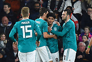 Goal - Mahmoud Dahoud of Germany U21's celebrates scoring a goal to give a 0-1 lead to the away team during the U21 International match between England and Germany at the Vitality Stadium, Bournemouth, England on 26 March 2019.