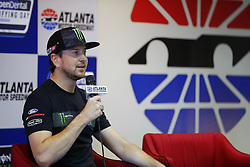 March 3, 2017 - Hampton, Georgia, United States of America - March 03, 2017 - Hampton, Georgia, USA: Kurt Busch (41) talks to the media about his Daytona 500 win prior to taking to the track to practice for the Folds of Honor QuikTrip 500 at Atlanta Motor Speedway in Hampton, Georgia. (Credit Image: © Justin R. Noe Asp Inc/ASP via ZUMA Wire)