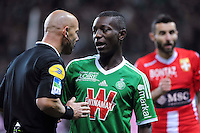 Amaury DELERUE / Allan SAINT MAXIMIN  - 21.12.2014 - Saint Etienne / Evian Thonon - 19eme journee de Ligue 1<br /> Photo : Jean Paul Thomas / Icon Sport