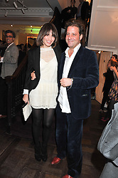 SHEHERAZADE GOLDSMITH and LARS VON BENNIGSEN at a party to celebrate thelaunch of Alice Temperley's flagship store Temperley, Bruton Street, London on 6th December 2012.