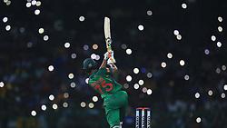April 6, 2017 - Colombo, Sri Lanka - Bangladesh's ..Shakib Al Hasan plays a shot during 2nd and final T-20 International cricket match between Sri Lanka and Bangladesh at R Premadasa Stadium, Colombo, Sri Lanka, Thursday 6 April  2017  (Credit Image: © Tharaka Basnayaka/NurPhoto via ZUMA Press)