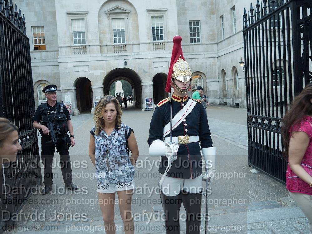 Guard in Whitehall, London, 15 September 2016