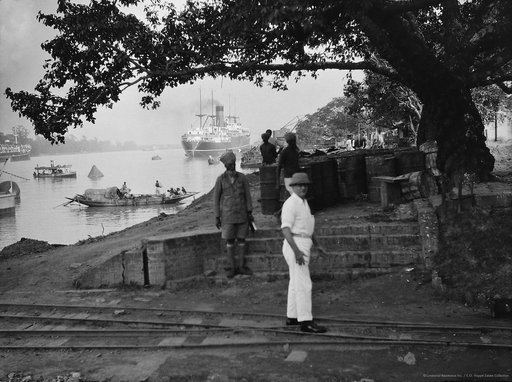 Shipping on the Hooghly River, Calcutta, India, 1929