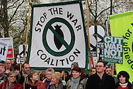 Thousands march through London in support of the call to withdraw troops from Afghanistan London, UK, 20/11/2010