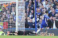 GOAL /   Eden Hazard of Chelsea scores his sides 2nd goal.Premier league match, Chelsea v Leicester city at Stamford Bridge in London on Saturday 15th October 2016.<br /> pic by John Patrick Fletcher, Andrew Orchard sports photography.