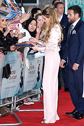Blake Lively signs autographs for fans whilst attending the Premiere of A Simple Favour held at The BFI Southbank, Belvedere Road, London. Picture credit should read: Doug Peters/EMPICS
