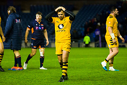 Rob Miller of Wasps looks dejected at full time - Mandatory by-line: Ewan Bootman/JMP - 06/12/2019 - RUGBY - Murrayfield - Edinburgh, England - Edinburgh Rugby v Wasps - European Rugby Challenge Cup