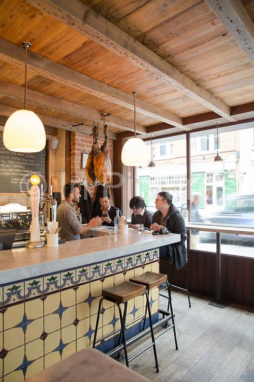 Interior of José Tapas Bar on 13th October 2015 along Bermondsey Street in London, United Kingdom.