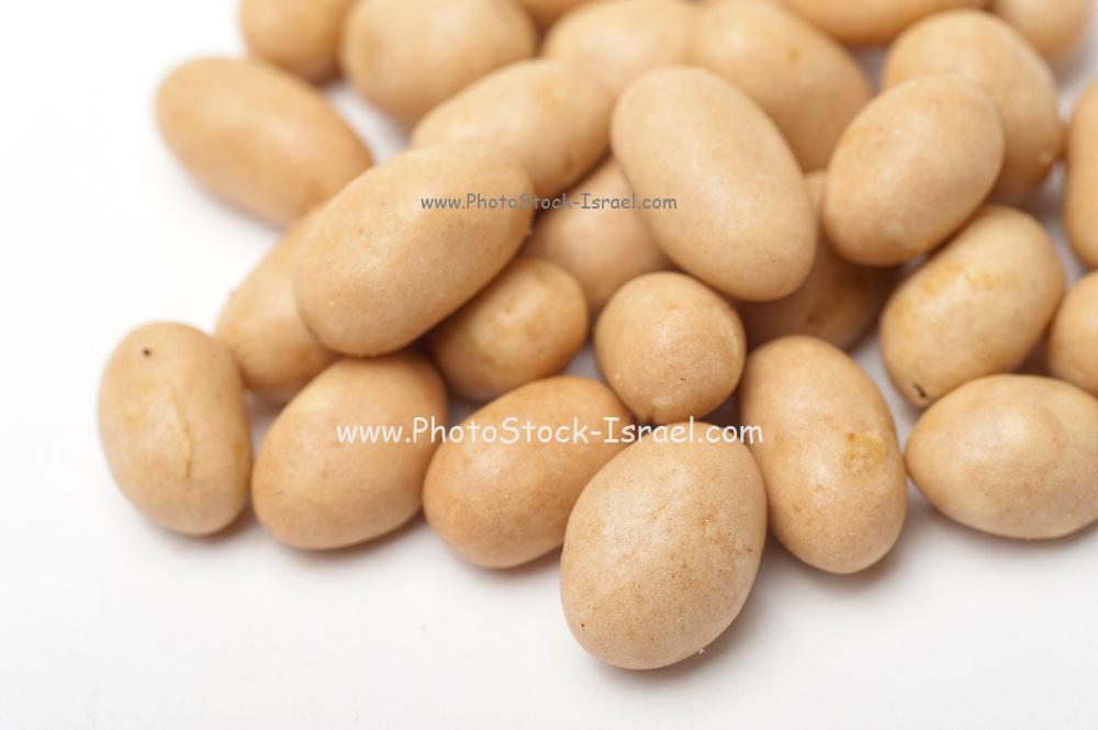 Coated Peanuts On white Background