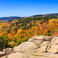 Panoramic from the Beehive in Acadia National Park - Bar Harbor, Maine