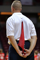 28 AUG 2009: Dave Cooper, a line judge official stands patiently waiting for play to resume. The Redbirds of Illinois State defeated the Runnin' Bulldogs of Gardner-Webb in 3 sets during play in the Redbird Classic on Doug Collins Court inside Redbird Arena in Normal Illinois
