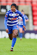 Reading forward Danielle Carter (18) during the FA Women's Super League match between Manchester United Women and Reading LFC at Leigh Sports Village, Leigh, United Kingdom on 7 February 2021.