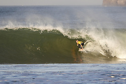 October 25, 2017 - Reigning World Champion and current World No.1 on the Jeep Leaderboard John John Florence of Hawaii had his hopes of a second consecutive World Title dashed in the Quarterfinals of the MEO Rip Curl Pro Portugal at Supertubos, Peniche, Portugal.  Florence finishes in equal 5th place after placing second to Kolohe Andino of the USA in Quarterfinal Heat 2 and the title chase goes to the final event of the year in Hawaii...MEO Rip Curl Pro Portugal 2017, Oeste Subregion, Portugal - 25 Oct 2017 (Credit Image: © Rex Shutterstock via ZUMA Press)