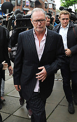 Former England footballer Paul Gascoigne arrives at Dudley Magistrates Court where he is set to face trial accused of a racially aggravated public order offence.