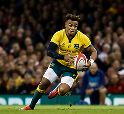 Will Genia of Australia<br /> <br /> Photographer Simon King/Replay Images<br /> <br /> Under Armour Series - Wales v Australia - Saturday 10th November 2018 - Principality Stadium - Cardiff<br /> <br /> World Copyright © Replay Images . All rights reserved. info@replayimages.co.uk - http://replayimages.co.uk