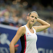 2016 U.S. Open - Day 11  Karolina Pliskova of the Czech Republic during her victory against Serena Williams of the United States in the Women's Singles Semifinal match on Arthur Ashe Stadium on day eleven of the 2016 US Open Tennis Tournament at the USTA Billie Jean King National Tennis Center on September 8, 2016 in Flushing, Queens, New York City.  (Photo by Tim Clayton/Corbis via Getty Images)