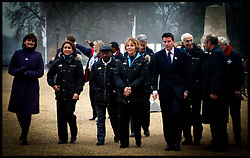 Cherie Blair with Nawal El Moutawakei chairman of International Olympic Committee  and other members of the committe as they meet at Horse Guards, London,Today Thursday 17th February 2005.PA Photo Andrew Parsons