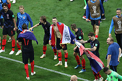 July 11, 2018 - Moscow, Russia - July 11, 2018, Moscow, FIFA World Cup 2018 Football, the playoff round. 1/2 finals of the World Cup. Football match Croatia - England at the stadium Luzhniki. Player of the national team joy; victory; emotions; Goal. (Credit Image: © Russian Look via ZUMA Wire)