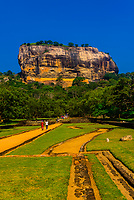 Sigiriya Rock (an ancient rock fortress), Central Province, Sri Lanka.