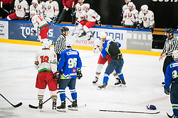 Andrej Hebar during Ice Hockey match between National teams of Slovenia and Belarus at International tournament Euro ice hockey Challenge 2019, on February 9, 2019 in Ice Arena Bled, Slovenia. Photo by Peter Podobnik / Sportida