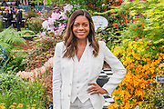 Naomie Harris, Prince's Trust Ambassador, on the Burncose Nurseries Stand - eThe opening day of th eChelsea Flower Show.