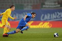 """Cristian LEDESMA Italia<br /> Klagenfurt, 17/11/2010 Stadio """"Wortersee""""<br /> Italia-Romania<br /> Amichevole internazionale<br /> Foto Nicolo' Zangirolami Insidefoto"""