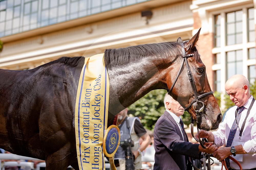 First Sitting (G. Mosse) wins Prix Gontaut-Biron Hong Kong Jockey Club Gr.3 in Deauville, France 15/08/2017, photo: Zuzanna Lupa