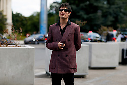 Street style, Jeremy Kapone arriving at Cerutti 1881 Spring-Summer 2019 menswear show held at Grand Palais, in Paris, France, on June 22nd, 2018. Photo by Marie-Paola Bertrand-Hillion/ABACAPRESS.COM