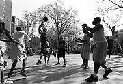 """Thursday April 24th 2008..New York, New York. United States..At """"The Cage"""", the West 4th Street Basketball Court..Greenwich Village. .6th Avenue between West 3rd and West 4th Streets."""