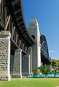 Sydney Harbour Bridge's northern approach. Sydney, Australia