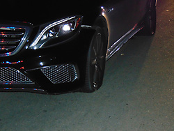 "Tiger Woods' smashed up car is seen here in images released by police from the golfer's DUI arrest earlier this week. The photos, released on May 31, show the sportsman's 2015 Mercedes Benz in a bad state - with two flat tires and cracking around the front bumper on the driver's side. According to the report by Jupiter Police, Woods was found asleep at the wheel of his car and was on four prescription drugs when he was arrested on suspicion of driving under the influence in the early hours of May 29 in Jupiter, Florida. He tested negative for alcohol. Elsewhere in the report it notes that Woods had 'extremely slow and slurred speech' and did not know where he was before taking the field tests. The golfer undertook four sobriety tests. After being asked to recite the alphabet backwards, he instead offered to recite the National Anthem backwards instead. During the Walk & Turn test the sportsman ""could not maintain starting position… missed heel to toe each time… stepped off the line several times… used arms for balance,"" according to the arresting officer's report. He was also unable to perform the One Leg Stand, requiring him to lift one leg off the ground six inches, placing his foot down ""several times"" while trying to complete the task. Woods was also seemingly confused by the Finger To Nose test, and was unable to complete the task as asked, the report notes. Woods released a statement later on May 29 in which he apologized. He insisted he hadn't taken alcohol but had suffered a reaction to prescription medication. 31 May 2017 Pictured: Tiger Woods 2015 Mercedes Benz - damage to car photographed after DUI arrest. Photo credit: Jupiter Police/ MEGA TheMegaAgency.com +1 888 505 6342"