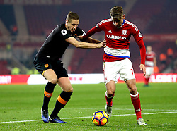 Gaston Ramirez of Middlesbrough takes on Michael Dawson of Hull City - Mandatory by-line: Robbie Stephenson/JMP - 05/12/2016 - FOOTBALL - Riverside Stadium - Middlesbrough, England - Middlesbrough v Hull City - Premier League
