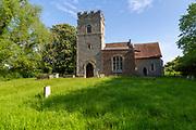 Village parish church of Saint Mary, Akenham, Suffolk, England, UK