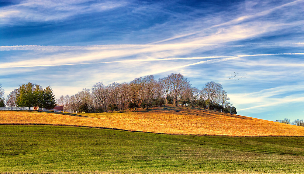 Waves of Earth and Sky - On a photo road trip of the New Melle area we captured this vibrant scene along Highway DD just outside of the Wentzville area