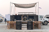 Live Music Stage at SK8 Fish - (Thanks to Gleamlaw for the caption update here) - https://Duncan.co/Burning-Man-2021