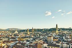 January 15, 2016 - ''High angle cityscape and Palazzo Vecchio, Florence, Italy' (Credit Image: © Gu/Bildbyran via ZUMA Press)