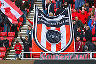 Sunderland fans during the EFL Sky Bet League 1 first leg Play Off match between Sunderland and Portsmouth at the Stadium Of Light, Sunderland, England on 11 May 2019.