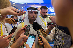 UAE Energy Minister Suhail al-Mazrouei during 10th OPEC and non-OPEC Joint Ministerial Monitoring Committee (JMMC) in Algiers, Algeria on September 23, 2018. Photo by Louiza Ammi/ABACAPRESS.COM