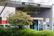 A nurse is seen at the entrance of the Kilmore Hospital during COVID-19 in Kilmore, Australia. An outbreak which started in Chadstone in Melbourne, has spread as far as Benalla. Twenty-eight people linked to the outbreak have now tested positive for COVID-19. There are now two confirmed cases in Kilmore linked with a Melbourne Resident who carried the virus into the town. The person visited the Odd Fellows Cafe in Kilmore which lead to him spreading the virus to a staff member, and a customer. The cafe has been closed for deep cleaning and will remain closed until the 19th October. (Photo by Dave Hewison/Speed Media)