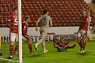 0-1, goal scored by John Marquis of Portsmouth  during the EFL Trophy match between Walsall and Portsmouth at the Banks's Stadium, Walsall, England on 7 January 2020.