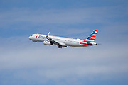 An American Airlines A321 takes off Los Angeles International Airport (LAX) on Friday, February 28, 2020 in Los Angeles. (Brandon Sloter/Image of Sport)