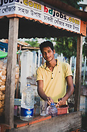 Cox's Bazar, Bangladesh - October 25, 2017: Portrait of a man at work in the city of Cox's Bazar