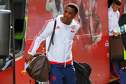 © Licensed to London News Pictures. 20/05/2016. London, UK. Manchester United player ANTHONY MARTIAL and the team arrive at their hotel in Wembley, London on Friday, 20 May 2016, ahead of the FA Cup final against Crystal Palace in Wembley Stadium. Photo credit: Tolga Akmen/LNP